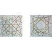 Madison Park Arctic Geometric 2 Piece Graphic Art on Canvas Set