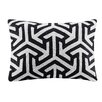 Madison Park Geometric Crewel Embroidered Oblong Cotton Lumbar Pillow