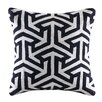 Madison Park Geometric Crewel Embroidered Square Cotton Throw Pillow
