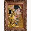 La Pastiche 'The Kiss Metallic Embellished' by Gustav Klimt Framed Painting Print
