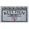 Pedrini LifeStyle-Mat Menu with Love Doormat