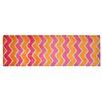 Pedrini Läufer LifeStyle-Mat Zigzag in Orange / Pink