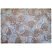 Pedrini LifeStyle-Mat Spirals Rug in Grey, Brown and Beige
