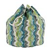 Brite Ideas Living Chino Frost Birch Round Laundry Bag with 8 Grommet