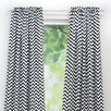 Brite Ideas Living Zig Zag Rod Pocket Single Curtain Panel