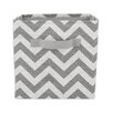 Brite Ideas Living Zig Zag Storage Bin with Handle