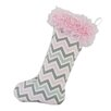 Brite Ideas Living Zoom Zoom Bella with Shaggy Band Christmas Stocking
