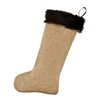 Brite Ideas Living Burlap with Taline Fur Band Christmas Stocking