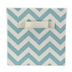 Brite Ideas Living Zig Zag Village Blue Storage Bin with Handle
