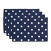 Brite Ideas Living Ikat Dot Lined Placemat (Set of 4)