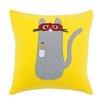 Brite Ideas Living Fleece Smart Kitty Throw Pillow