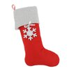 Brite Ideas Living Felt Lined Trimmed Stocking with Snowflake