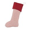 Brite Ideas Living Stripe with Passion Suede Cinnabar Band Christmas Stocking