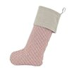 Brite Ideas Living Stripe Linen Natural Band Christmas Stocking