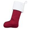 Brite Ideas Living Magnum Passion Suede Cinnabar Lined Christmas Stocking