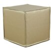 Brite Ideas Living Shimmer Seamed Cube Ottoman