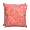 Brite Ideas Living Phase Indian Coral Outdoor Throw Pillow (Set of 2)