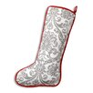 Brite Ideas Living Oh Gee Abigail Storm Red Corded Christmas Stocking