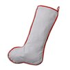 Brite Ideas Living Oh Gee Oxford Charcoal Red Corded Christmas Stocking