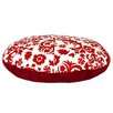 Brite Ideas Living Suzani Lipstick Round Pet Bed with Covered Zipper