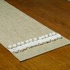 Brite Ideas Living Jefferson Linen Driftwood-Pom Pom Table Runner