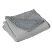 Brite Ideas Living Solid Storm Flanged Throw
