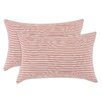 Brite Ideas Living Stripe Cotton Throw Pillow (Set of 2)