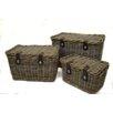Rustic Garden Supplies 3 Piece Wicker Hamper Set