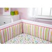 Zutano Blue Elephantasia Traditional Padded Crib Bumper