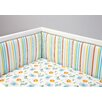 Zutano Blue Juba Traditional Padded Crib Bumper