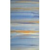 Angela Rose Gallery Blue And Gold Sky Art Print Wrapped on Canvas