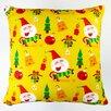 Artisan Pillows Christmas Happy Xmas Santa and Ornaments Throw Pillow