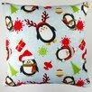 Artisan Pillows Christmas Holiday Penguins Throw Pillow