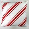 Artisan Pillows Christmas Candy Cane Stripes Throw Pillow