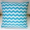 Artisan Pillows Wave Indoor Cotton Canvas Throw Pillow