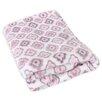 Stephan Baby Diamond Flower Fleece Blanket
