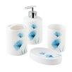 Bisk Basic Flower 4 Piece Bathroom Accessory Set