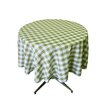 LA Linen Polyester Gingham Checkered Round Tablecloth