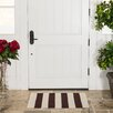 Harbormill Hand-Loomed Chocolate/White Indoor/Outdoor Area Rug
