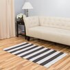 Harbormill Hand-Loomed Charcoal/White Indoor/Outdoor Area Rug