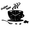 ModernClock Analoge Wanduhr Coffee Time Black