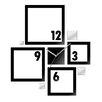ModernClock Analoge Wanduhr Quadrat