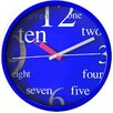 TechUhren 25cm Aluminium Wall Clock