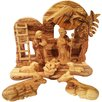 Carver's Art Musical Olive Wood Nativity Set