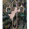 Carver's Art Olive Wood Angel Cross Ornament