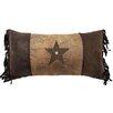 Carstens Inc. Brown Mustang Rivet Star Lumbar Pillow