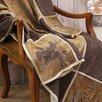 Carstens Inc. Brown Mustang Western Grid Throw