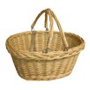 CandiGifts Plaited Top Wicker Shopper Folding Handle Basket