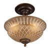 Rosalind Wheeler Lacey 3 Light Semi Flush Mount