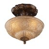 "Rosalind Wheeler Lacey 10"" 3 Light Semi Flush Mount"